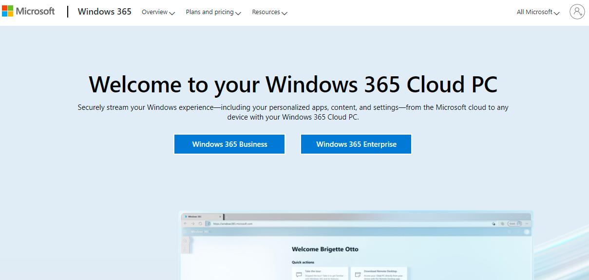 免费试用微软2个月Windows 365云桌面,4核心+16G内存+128SSD